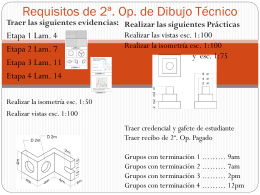 Requisitos de 2a Dibujo Tecnico 2014