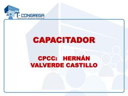 capacitador cpcc: hernán valverde castillo curso taller contabilidad y