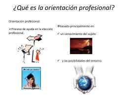 ¿Qué es la orientación profesional?
