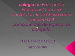 de Educación Profesional Técnica plantel Colegiodon juan osorio