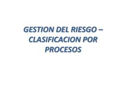 Analisis de Riesgo para los procedimientos de la ESE Hospital