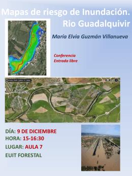 """Mapas de riesgo de Inundación. Rio Guadalquivir."""""""