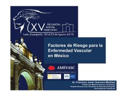 Factores de Riesgo para EVC en México 2015.