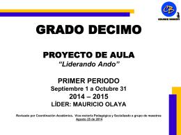 DECIMO_Proyecto_Primer_Periodo_20142015 - bennett-soft