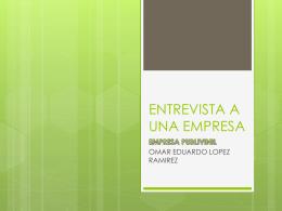 ENTREVISTA A UNA EMPRESA - Over-blog