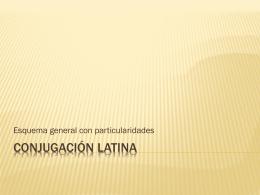 Conjugación Latina