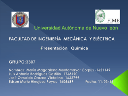 Presentacion del tema de La Quimica (882534)
