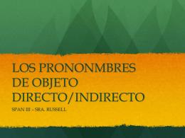 LOS PRONOMBRES PRACTICA EXTRA