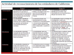 California World Language Content Standards