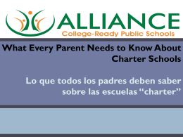 Charter Schools - Alliance Health Services Academy High School