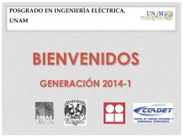 presentacion 2014-1 - Posgrado de Ingeniería Eléctrica