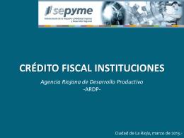 Crédito Fiscal Instituciones