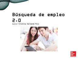 Búsqueda de empleo 2.0: presentación