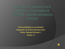 Colegio de bachilleres plantel 13 Xochimilco tepepan Quirino