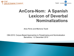 AnCora-Nom: A Spanish Lexicon of Deverbal Nominalizations