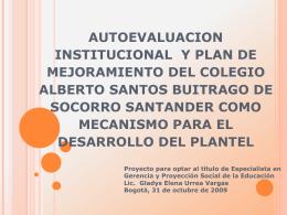 autoevaluacion institucional y formulacion del plan de mejoramiento