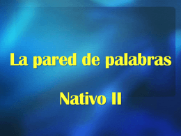 La pared de palabras Nativo II