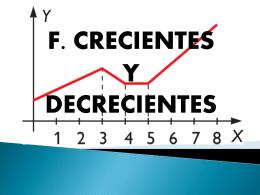 CRECIENTES Y DECRECIENTES