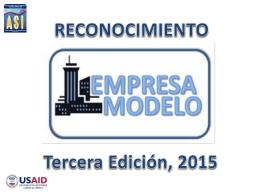 Presentación Empresa Modelo 2015