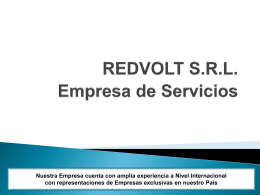 REDVOLT S.R.L. Empresa de Servicios