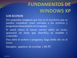 FUNDAMENTOS DE WINDOWS XP