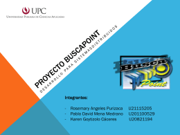 Proyecto buscapoint