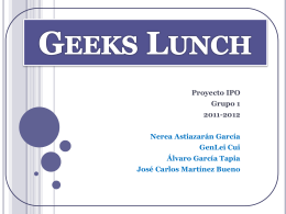 Geeks Lunch - ipo