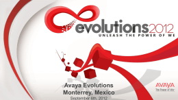 Avaya Evolutions Monterrey, Mexico