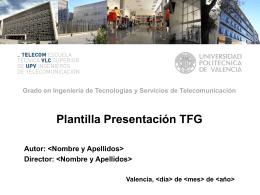 Plantilla presentación defensa TFG