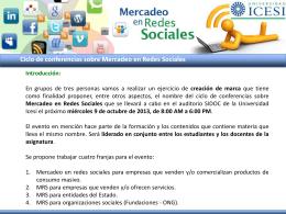 Ciclo de conferencias sobre Mercadeo en Redes Sociales Ejercicio
