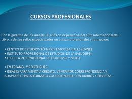 cursos profesionales