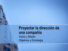 CAP 2 Proyectar la dirección de una compañía