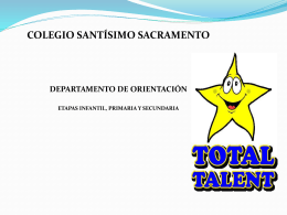 MINDFULNESS EN EDUCACIÓN: - Colegio Santísimo Sacramento