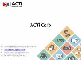 ACTi ACE Training