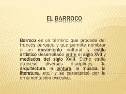 EL BARROCO.