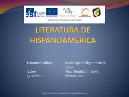 literatura de hispanoamérica