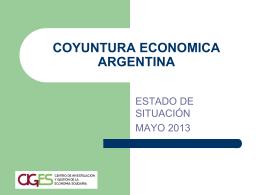 CIGES Mayo 2013 COYUNTURA ECONOMICA ARGENTINA