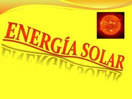 Energía Solar - earthdaylessons
