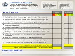 Modelo Cuestionario Profesores