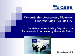 Auditoría de Sistemas y Bases de Datos
