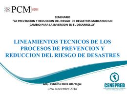 LA PREVENCION Y REDUCCION DEL RIESGO DE DESASTRES