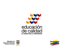 Presentación MEN - Secretaria de educación del Meta
