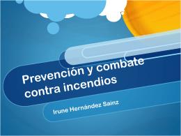 Prevención y combate contra incendios