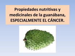 Propiedades nutritivas y medicinales de la guanábana