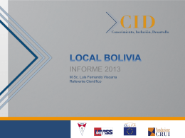 PROYECTO CID LOCAL BOLIVIA