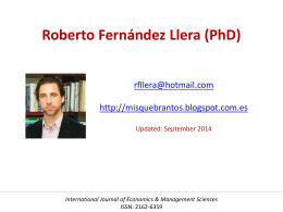 Roberto Fernández Llera (PhD)