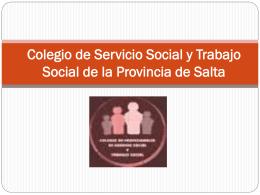 Memoria 2013 - colegio de profesionales de servicio social y trabajo