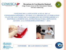 Presentación Resultados de Analisis de la Consejeria C.A Y RD