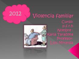 Violencia familiar