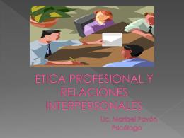 ETICA Y RELACIONES INTER - SPA